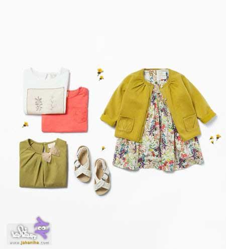 ست لباس نوزادی دخترانه برند زارا 2016,ست لباس نوزاد