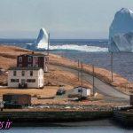 مشاهده توده یخ عظیم در سواحل کانادا