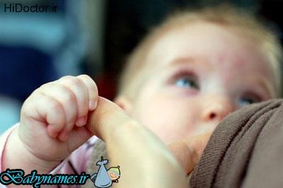 راه های کم کردن نفخ شیر مادر