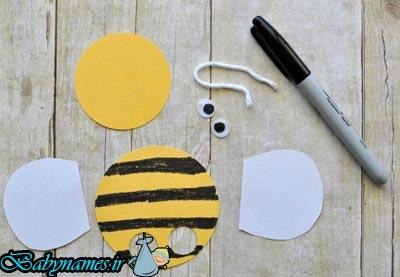 ساخت زنبور انگشتی با مقوا