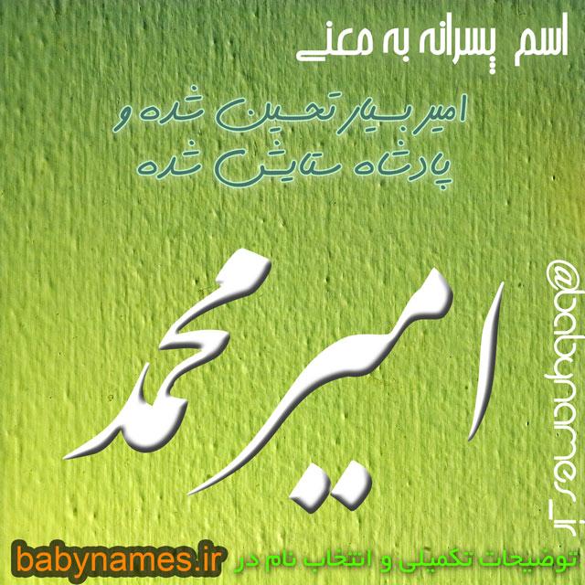 تصویر و معنی اسم امیرمحمد