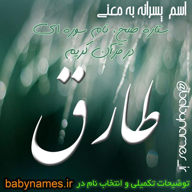 تصویر و معنی اسم طارق
