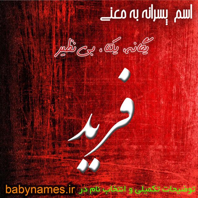 تصویر و معنی اسم فرید