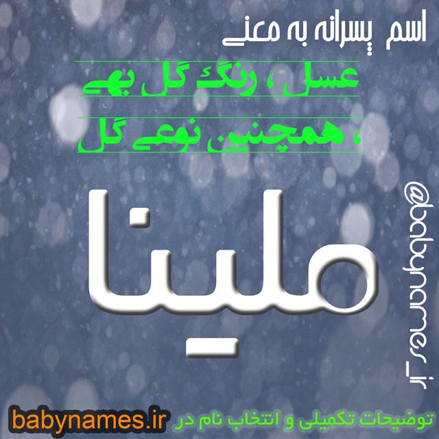 تصویر و معنی اسم ملینا